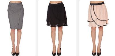 Falda de color gris, negro o rosa