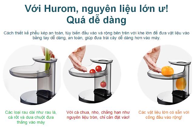 """""""Máy ép chậm - HUROM BLOSSOM, Với Hurom, nguyên liệu lớn ư! Quá dễ dàng  mua tại lgvietnam.top"""""""