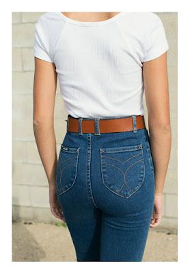 Высоко расположенные карманы на джинсах