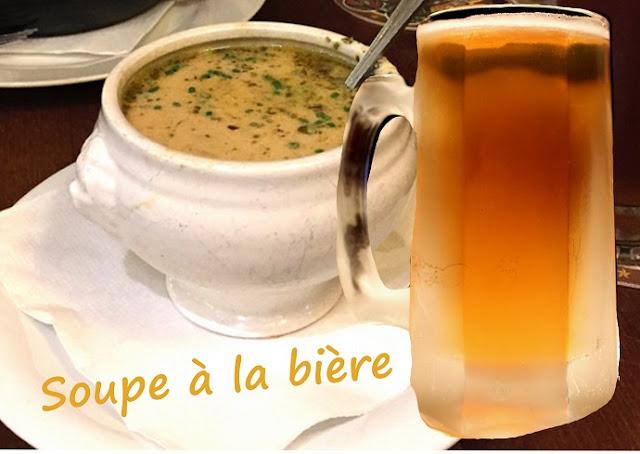 soupe à la bière sans fromage