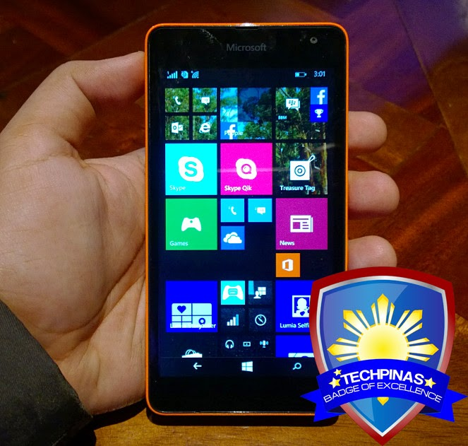 Microsoft Lumia 535, Microsoft Lumia 535 Philippines, TechPinas Badge of Excellence