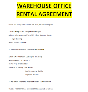 Warehouse Lease Agreement Doc Templates Sample Contracts
