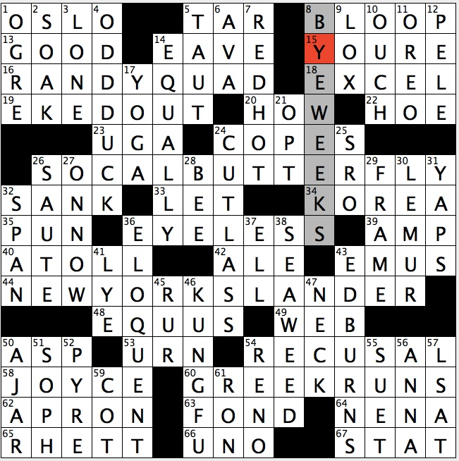 State of being away crossword clue