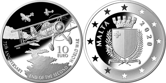 Malta 10 euro 2020 - 75th anniversary of the end of World War II