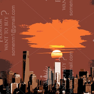 urban city illustration vector |  3d city illustration vector | simple city illustration vector | New york Vector