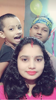 Biswajit's wife and his daughter Devshree