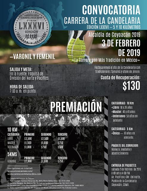 Convocatoria oficial: Carrera Candelaria 2019