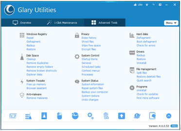 Glary Utilities Pro 5 with License Key on Virus Solution Provider