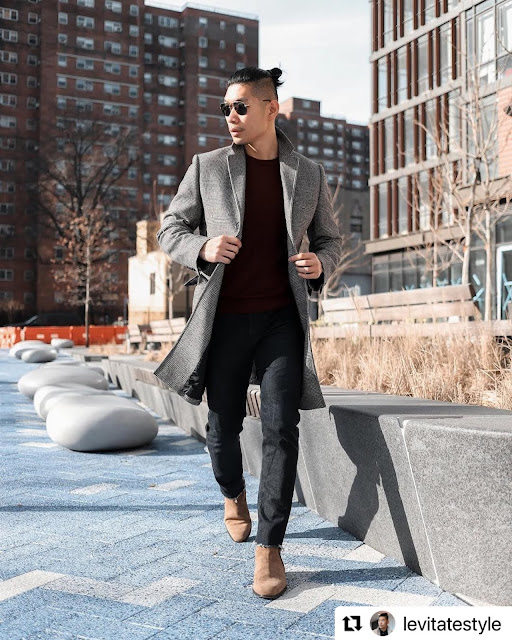 8 Valentine's Day Outfits for Men - Merlot Sweater from Express