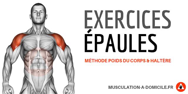 musculation à domicile exercices musculation fitness épaules déltoides poids du corps haltère
