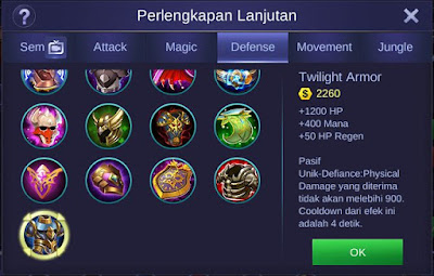 Twilight Armor Mobile Legends