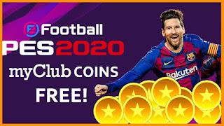 Gambar coin gratis PES 2020