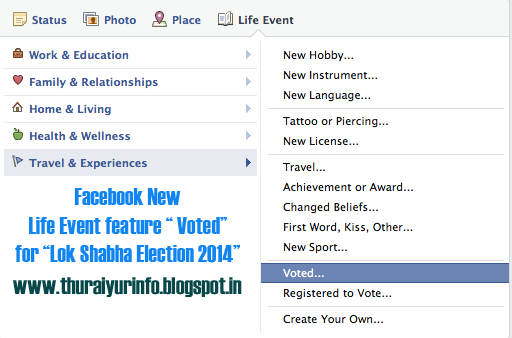 "Facebook ""Voted"" Option for LokSabha Elections 2014"