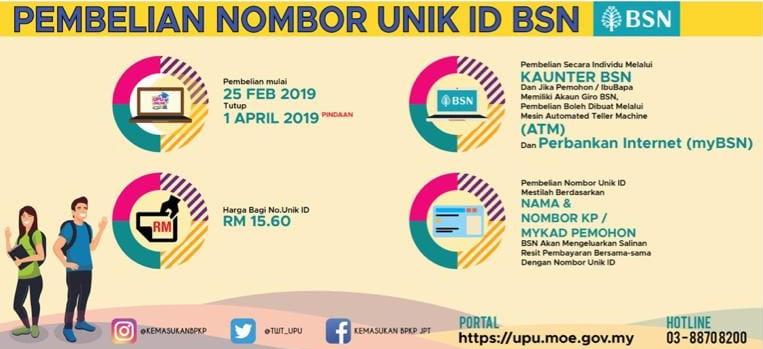No PIN UPU di BSN