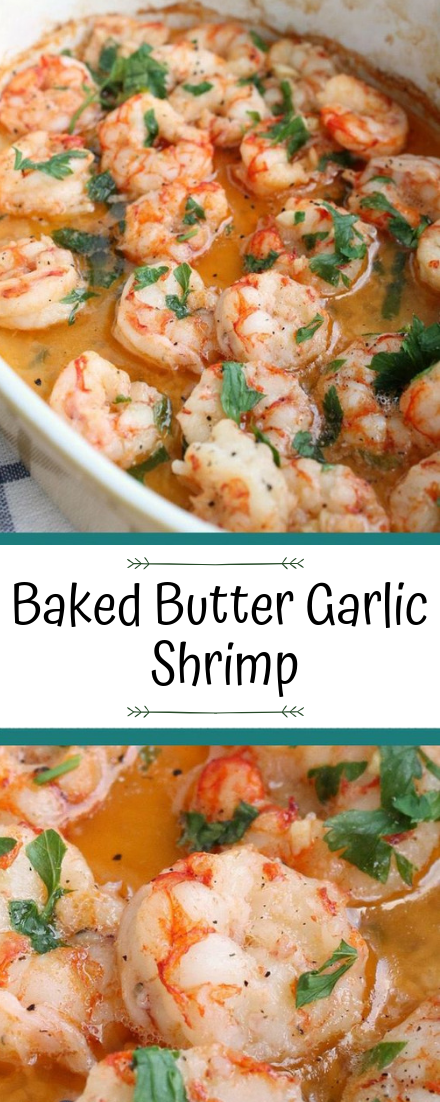Baked Butter Garlic Shrimp #healthyfood #dietketo