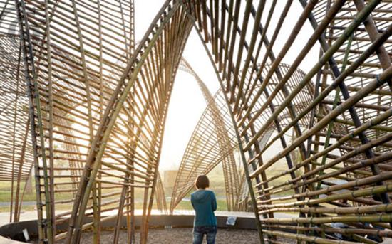 Bambu dalam desain arsitektur