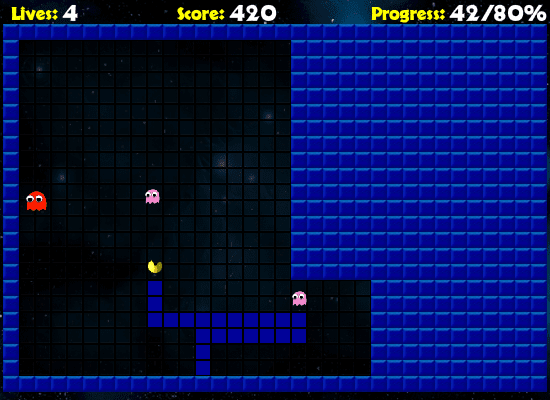 Pac-Xon | GAMEZIN ZONE