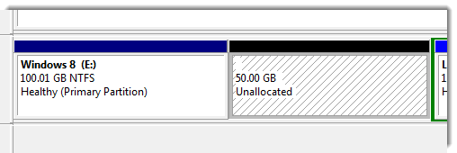 Unallocated space