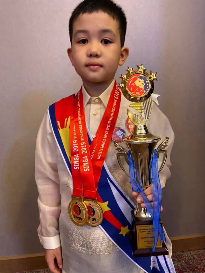 8-year-old kid from Laguna wins gold in math competition in Vietnam