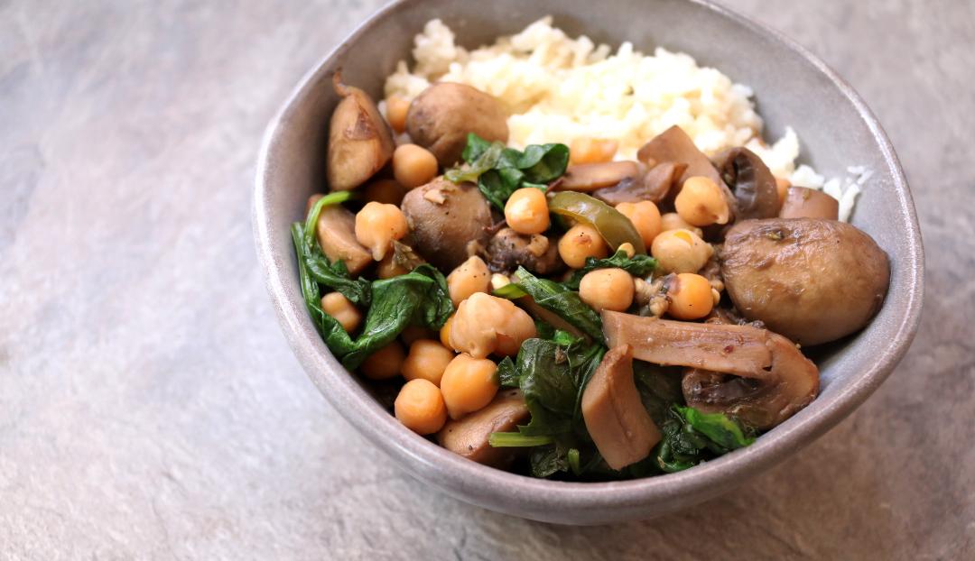 Mushroom & Chickpea Ragout (Vegan / Dairy-Free recipe)