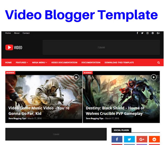 video blogger template, video template for blogger, video blog templates free download