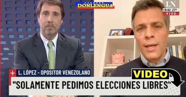 Leopoldo López ratifica en un programa de España que solo quiere Elecciones en Venezuela