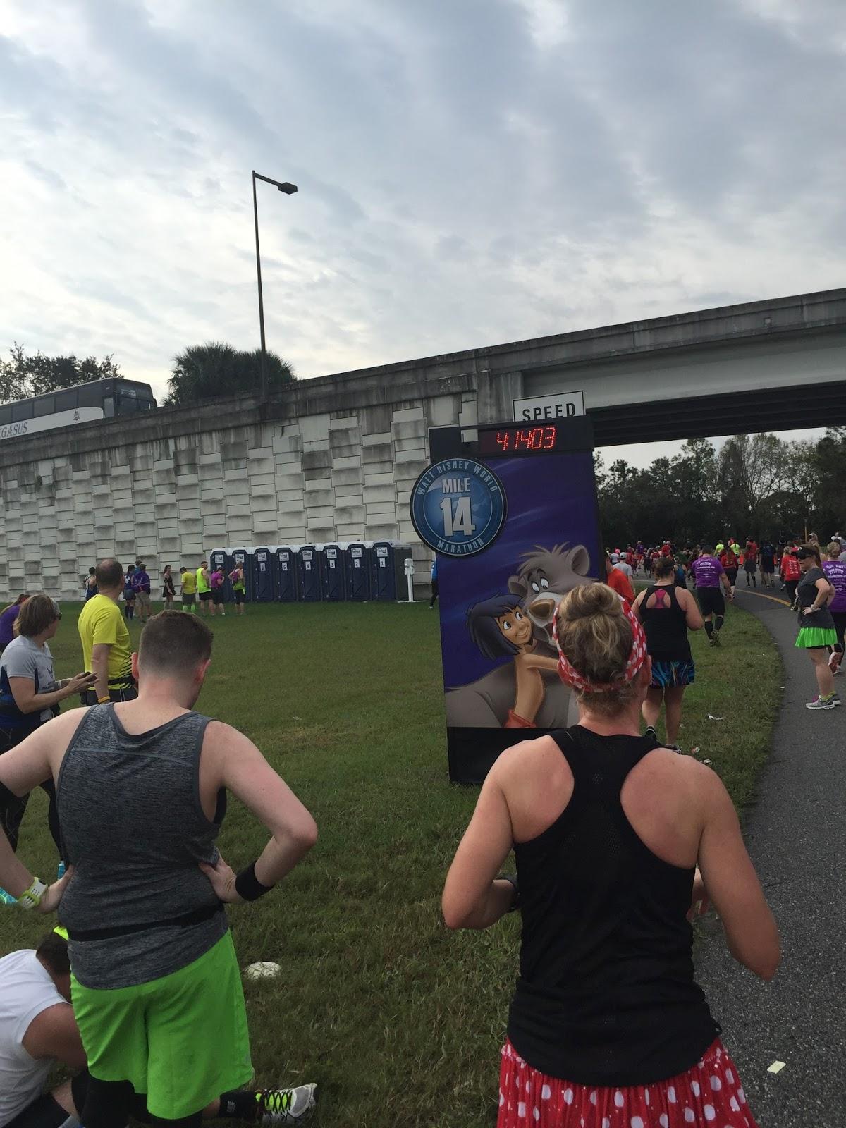 Dopey Challenge Mickey Marathon 2016 Mile 14