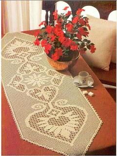 Lovely runner _crochet filet