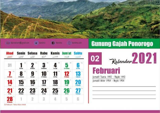 template kalender duduk cdr - kanalmu