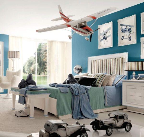 غرفة نوم اطفال لون ازرق
