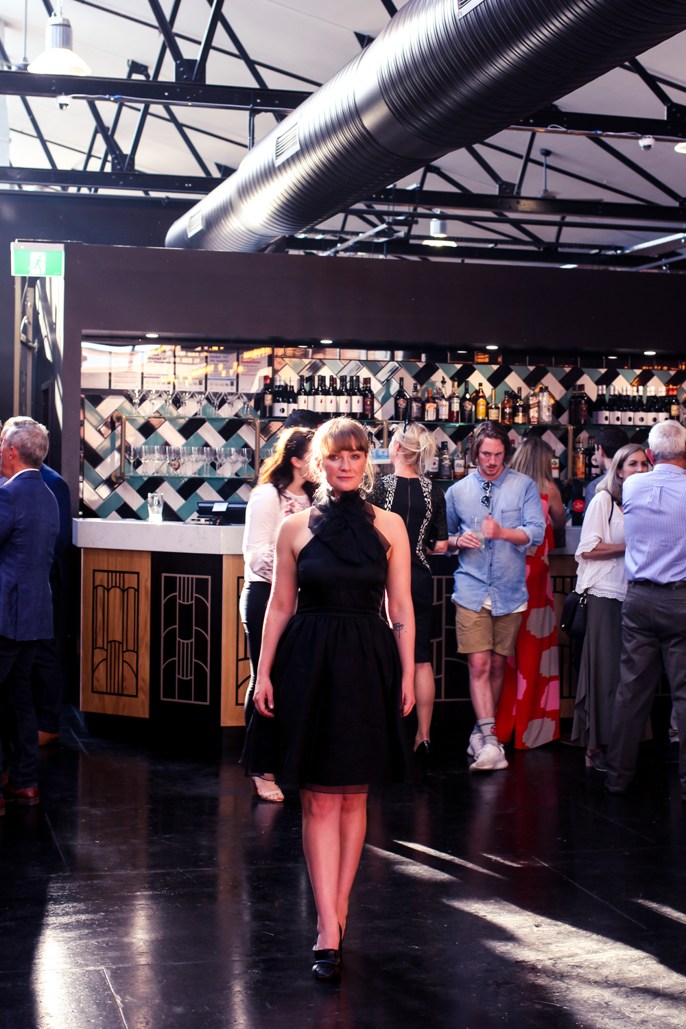 Liana of @findingfemme in Alexandra Grecco at the launch of the Australia Day Polo