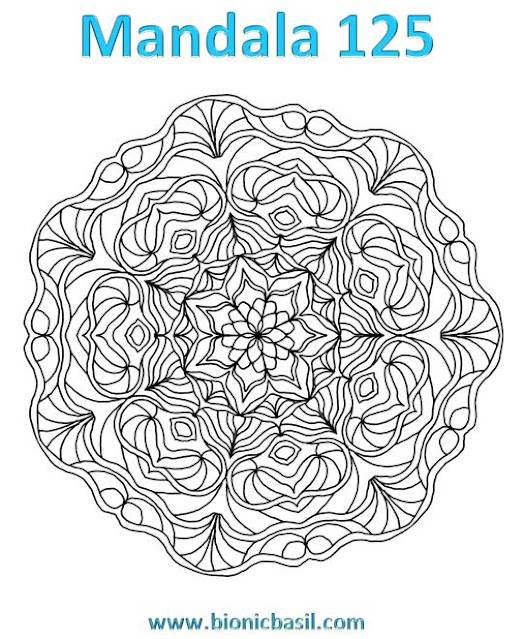 Mandalas on Monday ©BionicBasil® Colouring With Cats Mandala #125 Downloadable Image a