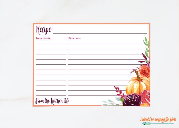 4x6 Recipe Cards