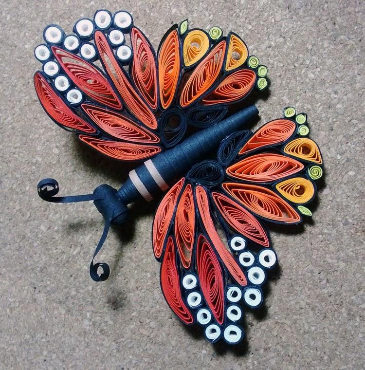 Diy 3d Quilled Butterflies The Idea King