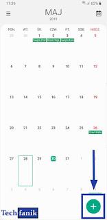 Samsung kalendarz jak dodać wydarzenie?