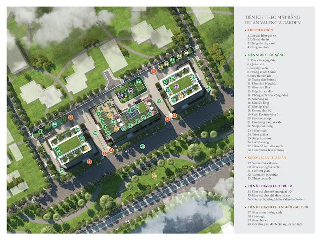 Tiện ích dự án chung cư Valencia Garden