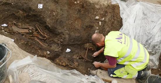 Ruínas de Barco Viking revelam esqueletos de homem, cavalo e cachorro