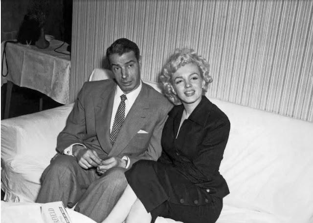 مارلين و زوجها السابق نجم البيسبول جو ديماجيو