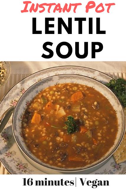 Instant Pot Lentil Soup http://www.glutenfreematters.com