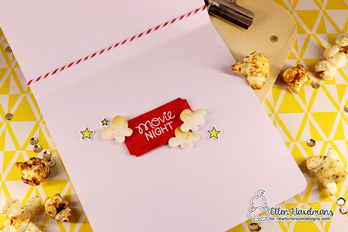#newtonsnookdesigns #nnd #card #cardmaking #stamps #distress #ink #handmade #stamp #set #dies #paperart #hobby #Zigmarkers #ZigClearColorBrushMarkers #crittercards #watercolor #diecutting  #diy #newtonsmovienight stampset #popcornstencil #stampset