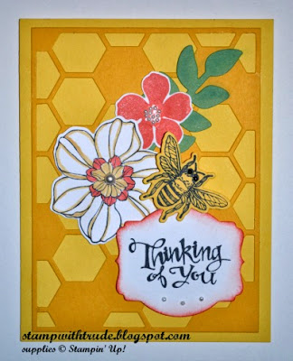 http://stampwithtrude.blogspot.com Stampin' Up! greeting card by Trude Thoman Secret Garden stamp set
