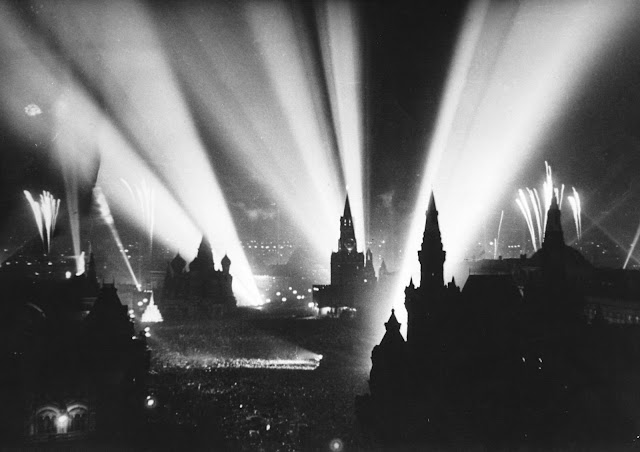 Celebration of Victory in Moscow's Red Square, Soviet Union. May 9, 1945.