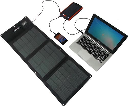Chargeur solaire ordinateur portable