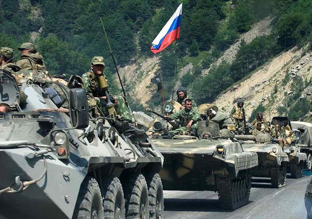 Há analogias entre a 'independência' de Ossétia do Sul e a da Catalunha, diz enviado de Putin Na foto: tanques russos invadem a Georgia para consolidar indepedentismos em 2008.