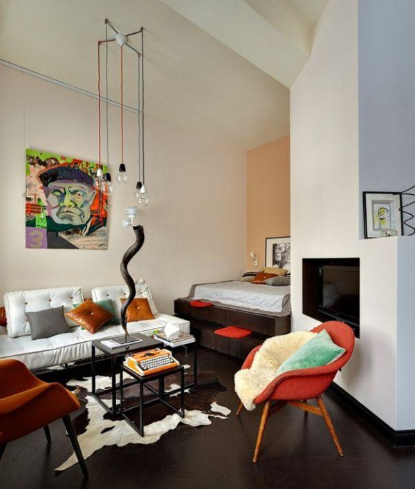 Estilo en 36 metros cuadrados apartamento en mosc de - Petit salon design ...