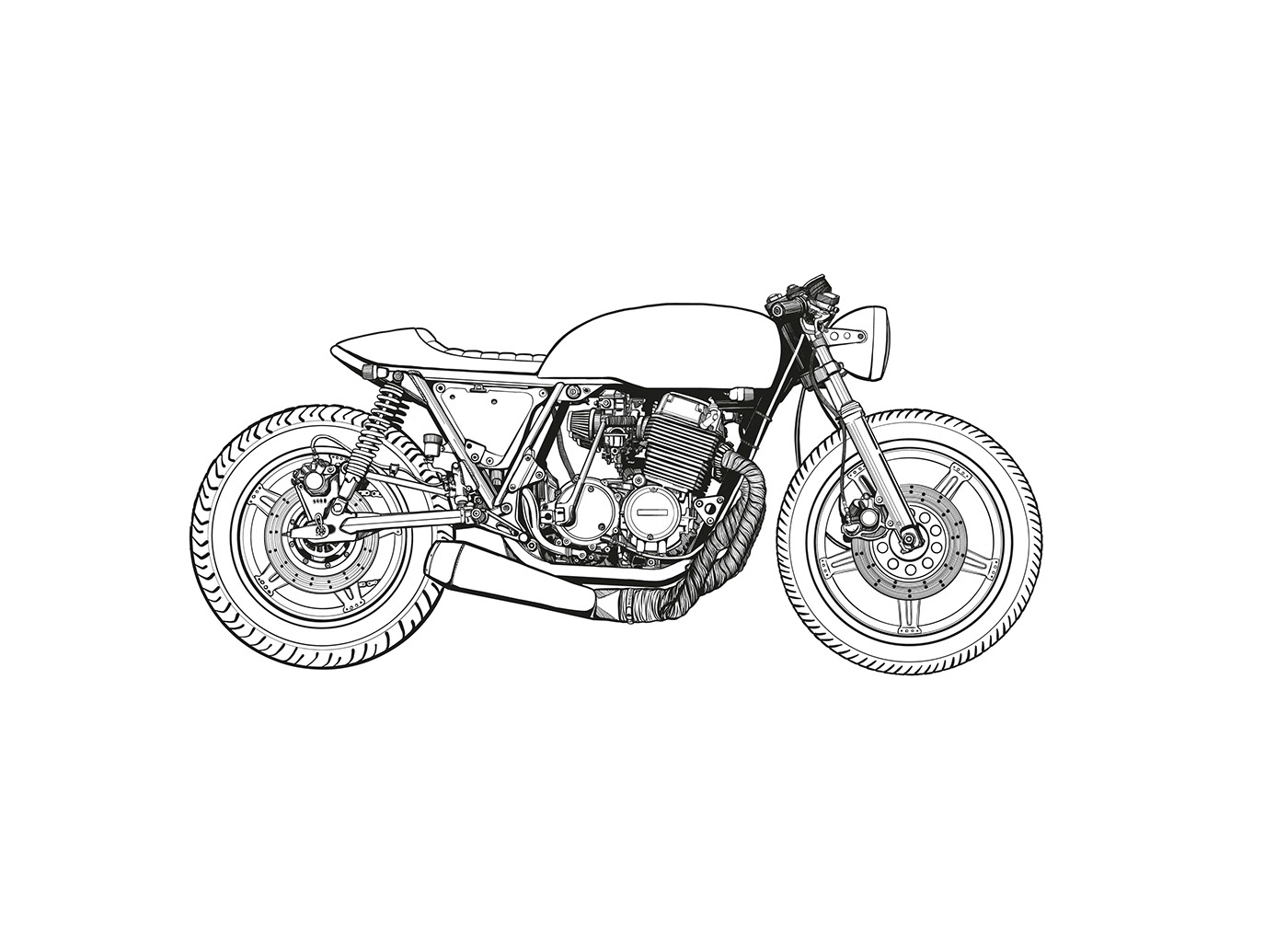 Cafe Racer Drawing Rocketgarage Cafe Racer Magazine