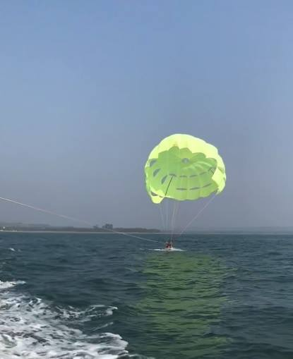 Image / photo / Picture of Vagator Beach Para Sailing in Goa