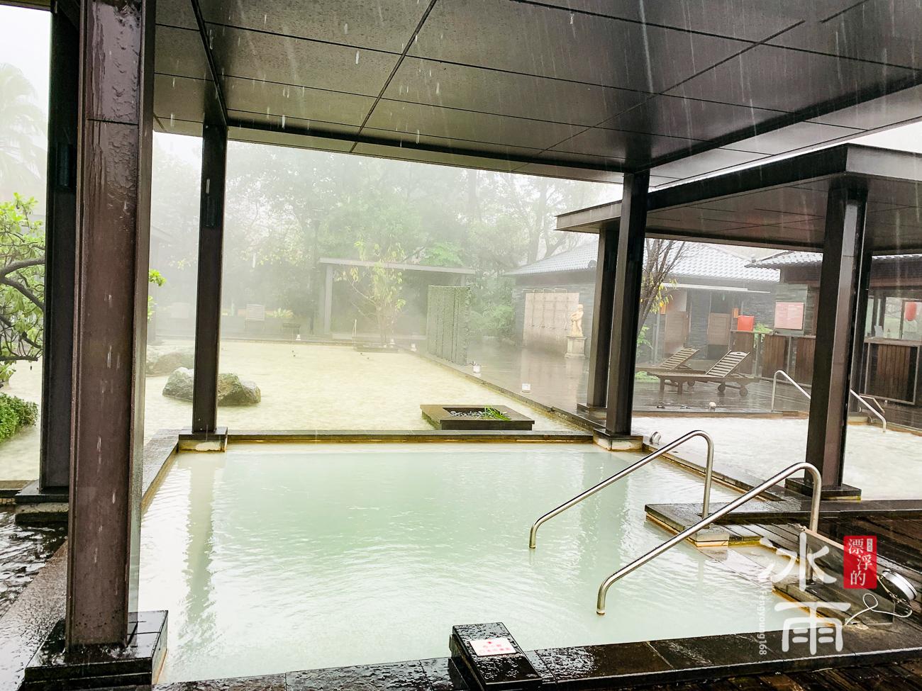 陽明山天籟溫泉會館|露天風呂熱湯區