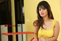 Cute Telugu Actress Shunaya Solanki High Definition Spicy Pos in Yellow Top and Skirt  0558.JPG