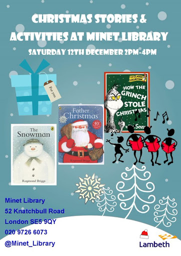 Minet Library Christmas flyer on vassallview.com